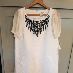 Kensie Shift Dress with Beaded Embellishment NWT